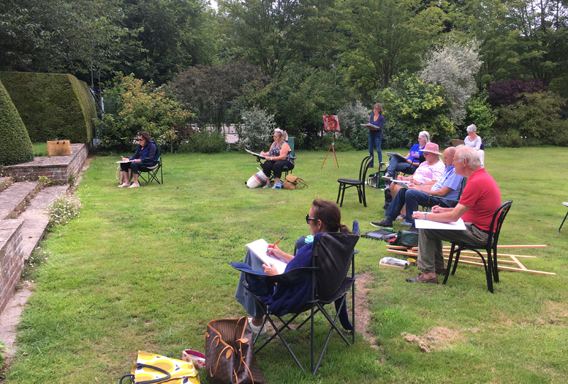 life drawing in garden